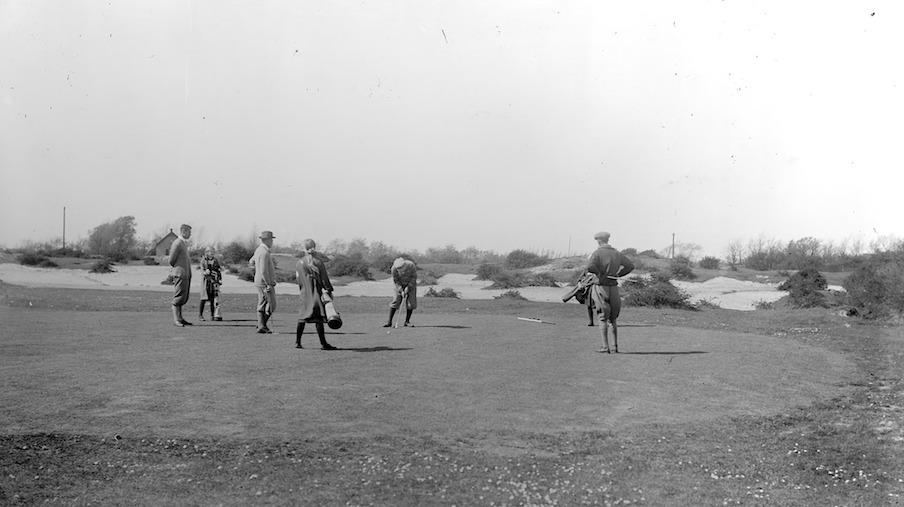 De golfbaan in Oostvoorne